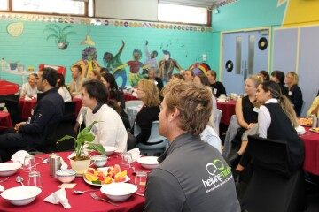 Attendees from a wide range of health organsiations attended.